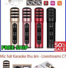 Mic hat karaoke , Mit hat karaoke dien thoai – MIC HÁT KARAOKE – LIVESTREAM THU ÂM C7 Pro; Chất lượng âm thanh karaoke đỉnh cao, Model C7-332, Giảm sốc 50%, Bảo hành 1 đổi 1 trên Toàn Quốc