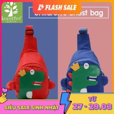 Túi đeo chéo đeo vai trẻ em hình khủng long chất chống nước kiểu dáng đáng yêu ngộ nghĩnh Kocotree