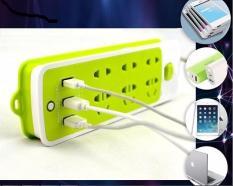 Ổ CẮM ĐIỆN ĐA NĂNG THÔNG MINH CÓ CỔNG USB SẠC NHANH 2A AN TOÀN CHỐNG GIẬT SIÊU TIỆN LỢI – Ổ CẮM ĐIỆN 6 PHÍCH CẮM 3 CỔNG USB SẠC NHANH 2A