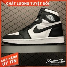 (FREESHIP+HỘP+QUÀ) Giày Thể Thao AIR JORDAN 1 Retro High Black White Đen Trắng Cổ Cao Cực Phong Cách