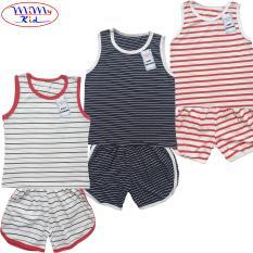 Combo 3 Bộ sọc ngang bộ quần áo bé gái bộ quần áo bé trai