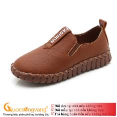 Giày đi học bé trai PU giày học sinh đế bằng chống sốc G108