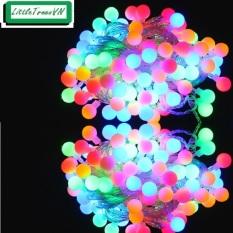 Dây đèn led tròn nháy nhiều màu dài 10m – 100 bóng có đuôi nối dài