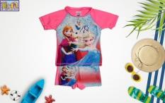 Đồ bơi bé gái hình công chúa Elsa & anna từ 13-42kg-quần áo bơi trẻ em 2 mãnh-hình in sắc nét- Hương Nhiên