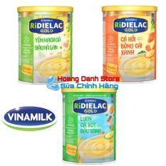 Bộ 3 Hộp Bột ăn dặm RiDielac Vinamilk Yến mạch gà đậu Hà Lan 350g + Cá Hồi Bông cải xanh 350g + Lươn cà rốt đậu xanh 350g (Hộp thiếc)