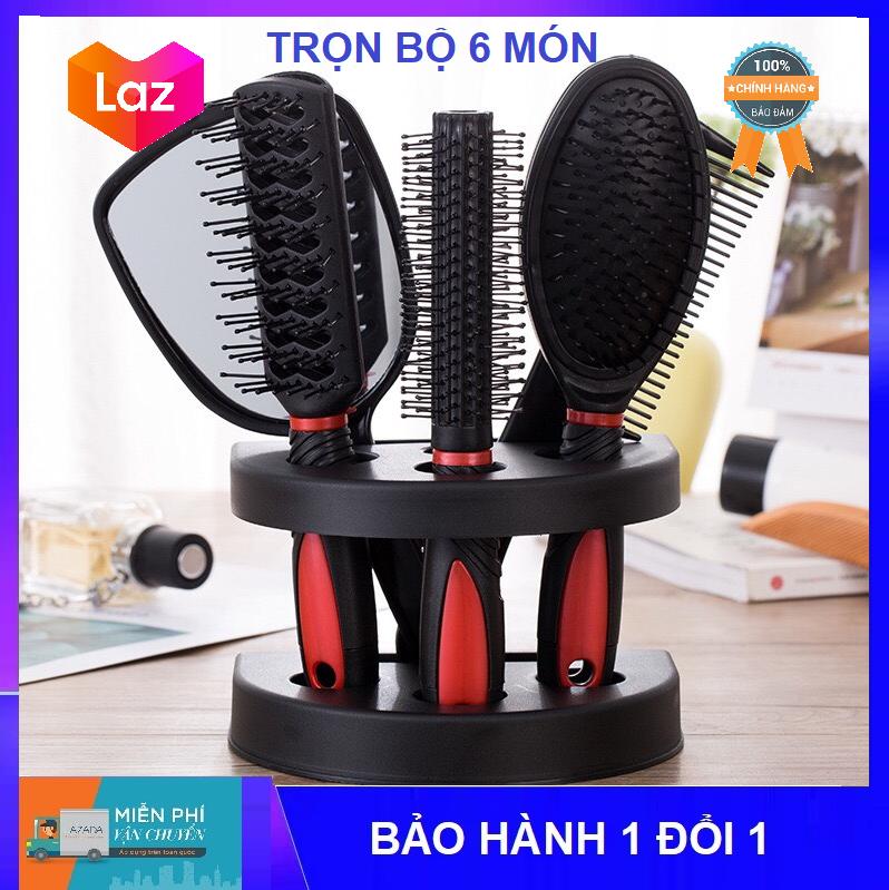 [COMBO] Bộ lược chải đầu và gương soi Lược chải đầu gỡ rối tóc tạo kiểu tóc trọn bộ 2020