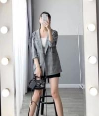 Áo Vest nữ, áo blazer nữ kẻ 1 lớp mẫu mới về nhiều màu hàng đẹp