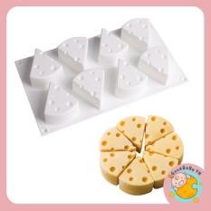 Khuôn silicon hình phô mai 3D là thạch rau câu,pudding cho bé GOODBABYTBVN