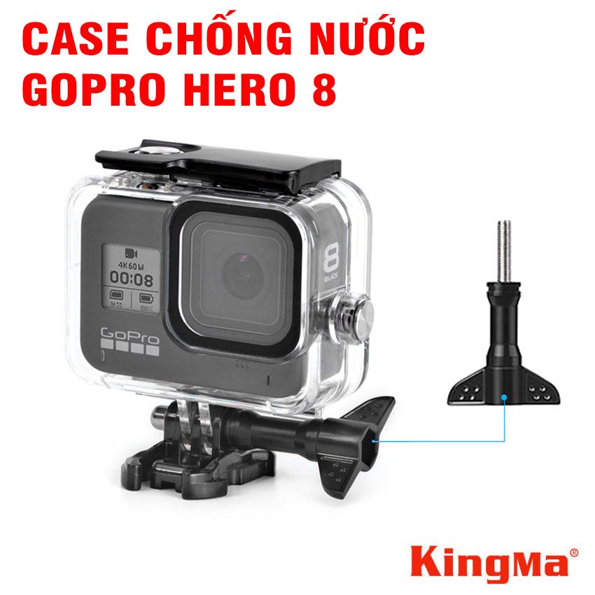 Hộp bảo vệ chống nước Gopro Hero 8 black bằng nhựa mica trong suốt chống nước độ sâu tới 60m