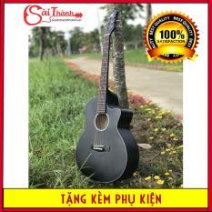 Đàn guitar Acoustic nước sơn PU mờ và bóng, khóa inox chống gỉ cực tốt, bảo hành 1 năm + Tặng kèm bộ quà tặng