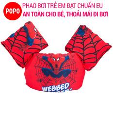 Phao bơi trẻ em (Bé từ 2 đến 8 tuổi), Phao đeo tay SPIDERMAN chất liệu cao cấp tiêu chuẩn EU – POPO Sports(Red)