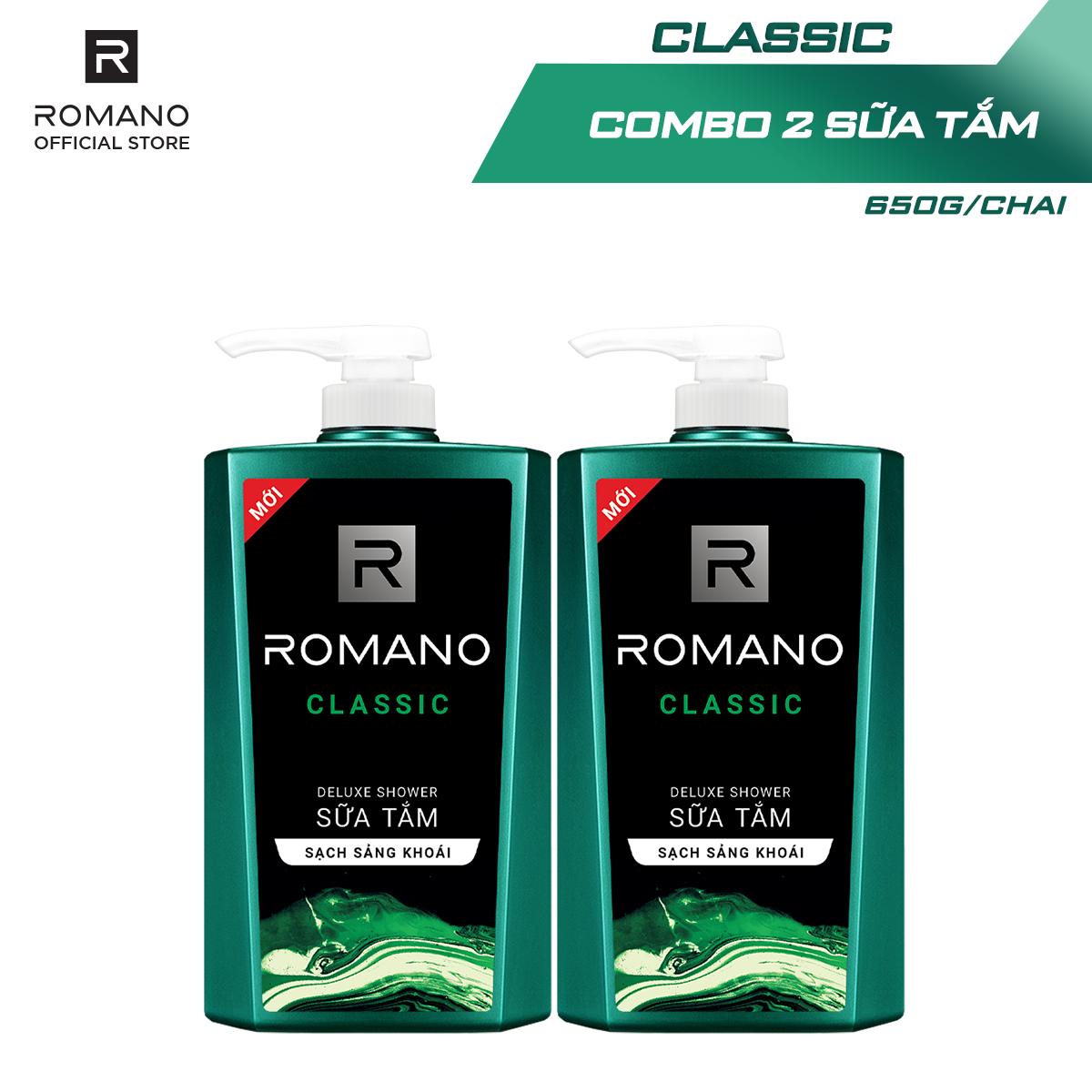 Combo 2 Sữa tắm Romano Classic cổ điển lịch lãm 650gr*2