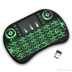 Bàn phím kiêm chuột bay I8 FRO (Có đèn Led) dành cho Android TV box, Smart TV, Laptop( CÓ KÈM PIN SẠC 5C)