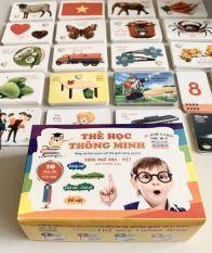 Bộ 416 Thẻ học chữ Song Ngữ bằng hình ảnh kích thích trí thông minh cho bé, danh cho bé 0-5 tuổi (16 chủ đề) Tặng kèm đồ chơi con con vật chạy đà cho bé – Niki Store