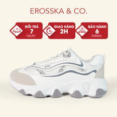 Giày thể thao nữ đế độn thời trang Erosska phong cách Hàn Quốc trẻ trung màu xám – ES006