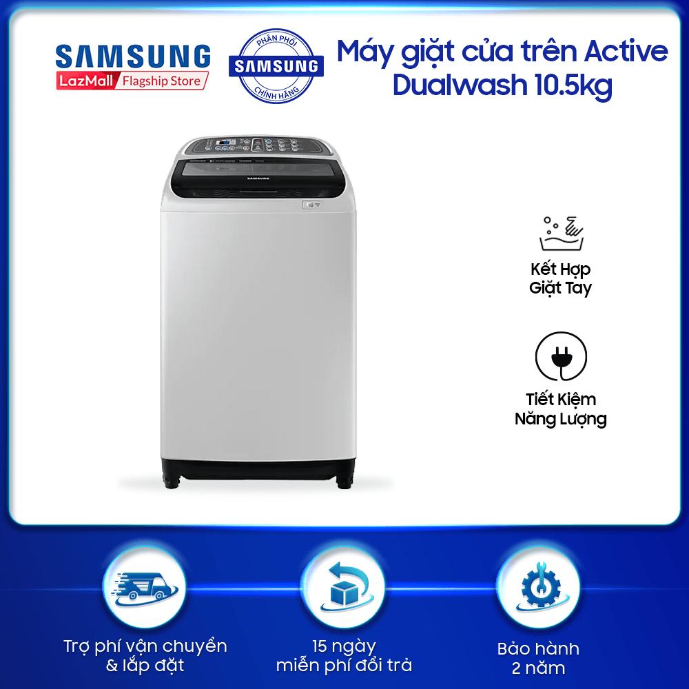 Máy giặt cửa trên Samsung Activ Dualwash 10.5kg – WA10J5750SG – WM