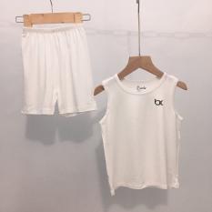 Bộ ba lỗ màu Bexiu vải cotton lạnh mát, mềm mượt cao cấp cho bé 7-19kg
