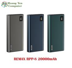 Sạc Dự Phòng Remax RPP-8 20000mAh QC3.0 Và Sạc Nhanh 2 Chiều Type C – BH 1 Năm