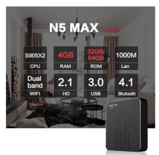 Android Tivi Box Magicsee N5 MAX Ram 4GB – Rom 32GB – Chip S905X2- Bluetooth 4.1- USB 3.0( New 2019 )
