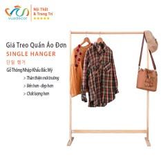 Giá treo quần áo đơn VUADECOR Single Hanger nội thất lắp ghép tiện dụng decor trang trí nhà cửa