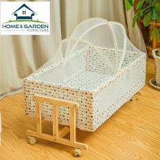 Home and Garden- Nôi gỗ trẻ em Nhật Bản BestMart NOI01 0-2 tuổi (87x45x25cm)