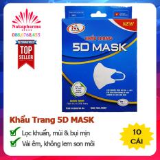 ✅ Khẩu Trang Y Tế 5D Mask Nam Anh – Lọc vi khuẩn, mùi và bụi mịn – Vải êm, dễ chịu, không bị lem son môi