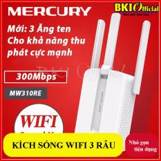 Bộ kích sóng wifi 3 râu Mercury (wireless 300Mbps) CỰC MẠNH, thiết bị kích sóng 300m 3 râu, thiết bị kích sóng wifi tốt