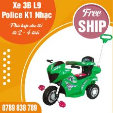XE 3 BÁNH L9 POLICE ĐKBH M1378B-X3B