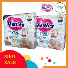 Tã/Bỉm DÁN Merries nội địa Nhật Size Newborn (Sơ sinh-5kg)