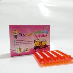 Tăng cường đề kháng, tăng hấp thu, ăn ngon miệng Yến sào- Hồng sâm Kids net-hộp 20 ống