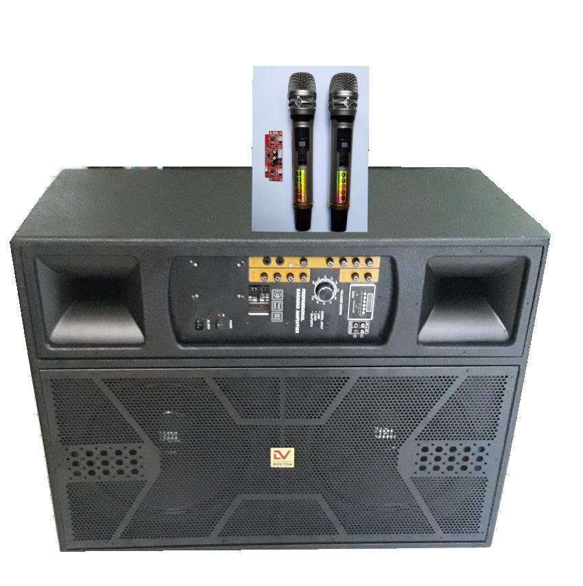Tủ Loa Kéo Active 4 Tấc Đôi TA215 Mic Nhôm UHF