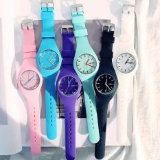 Đồng hồ thời trang nam nữ Geneva LQ612 dây silicon