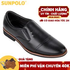 Giày nam da bò công sở SUNPOLO SPH309 (Đen, Nâu)