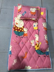 Bộ nệm gối em bé 65 x 115cm (màu cho bé gái)