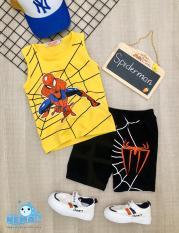 (GIÁ TẬN XƯỞNG) Bộ đồ quần áo cho trẻ em in hình spider-Man người nhện siêu ngầu cho bé trai từ 8kg đến 26kg
