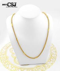 dây chuyền nữ inox mạ vàng 3 lớp siêu cute