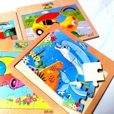 Đồ chơi xếp hình, Ghép hình bằng gỗ 12 mảnh cho bé phát triển tư duy