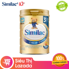 [Siêu thị Lazada]Sữa bột Similac Eye-Q 3 HMO 900g Gold Label cung cấp nguồn dinh dưỡng đầy đủ cho bé phát triển toàn diện