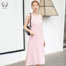 Đầm thun suông nữ Callia thiết kế midi Lola Pink Dress