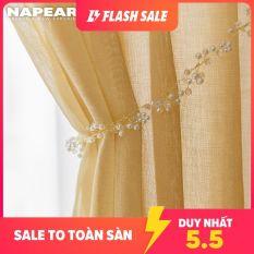 Napearl Rèm cửa vải tuyn màu trơn kích thước 100X260CM thích hợp trang trí phòng khách – INTL