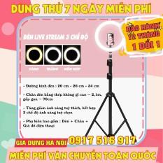 Đèn LED LiveStream Đa Năng Kích Thước 26CM (Tặng Kèm Chân Đỡ & Kẹp Điện Thoại) – BH 12 tháng
