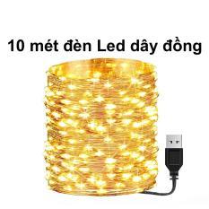 10m Dây đèn led trang trí, Dây Đèn led dây đồng sử dụng cổng USB 5v không chớp nháy Led Fairy Light/ Đèn led đom đóm dùng trang trí phòng ngủ, nhà cửa, giáng sinh noel, năm mới | Kyto Shop