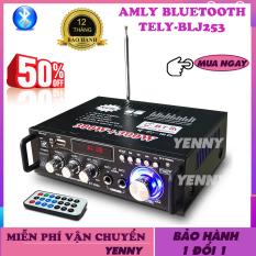 Âmly Bluetooth Đang Hot, Amply Mini Giá Rẻ – Công Suất 2 Kênh 600W, Hỗ Trợ Khe Cắm Thẻ Nhớ, Tự động lọc nhiễu và tạp âm , Âm thanh mượt mà – Âm ly hát karaoke được không – Chỉnh Amly Bluetooth – Yenny
