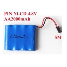 [HCM]Pin ni-cd 4.8v 2000mah cho xe điều khiển