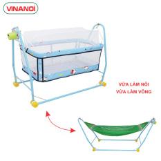 Nôi võng 2 trong 1 có máy đưa tự động VINANOI cho bé từ 8-20kg