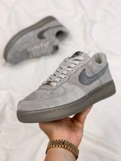 Giày sneakers nam nike AF1 màu xám da lộn đế hơi cực chất. Giày nike xxv, Giày thể thao nam đẹp, giày sneakers chạy bộ, giày thể thao tập gym, đi chơi, đi học, đi làm.