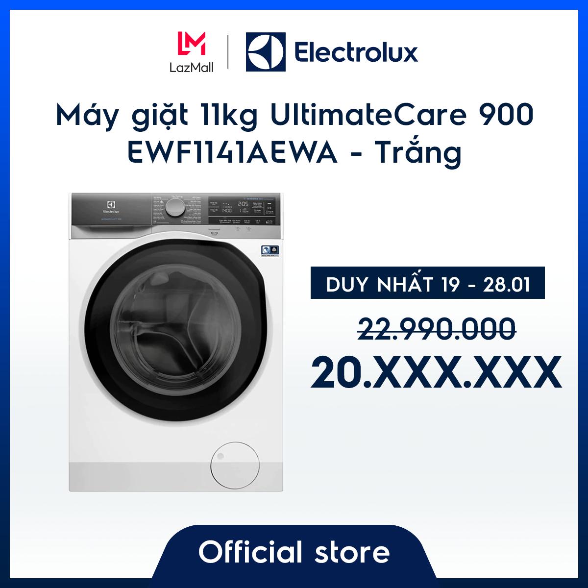 [Miễn phí công lắp đặt] Máy giặt 11kg Electrolux EWF1141AEWA – Dòng cao cấp nhất -Thiết kế châu Âu – Chăm sóc tối ưu quần áo – Hàng chính hãng