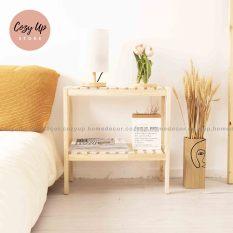 Kệ Tab đầu giường gỗ thông 2 tầng trang trí 2T500