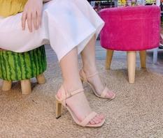 Giày cao gót 9 phân bản ngang hở gót LT