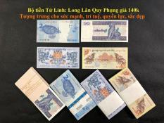 tiền lì xì tết 2019 tứ linh Long Lân Quy Phụng , 100% tiền thật( bộ 4 tờ )